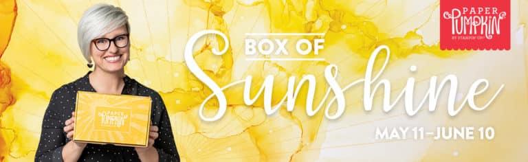 Sharing Sunshine with the June 2020 Box of Sunshine Paper Pumpkin kit
