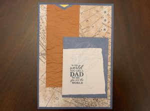 Stampin Up World of Good masculine Father's Day card Dad