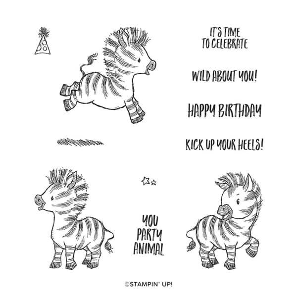 Zany zebra stampin up cute kids card