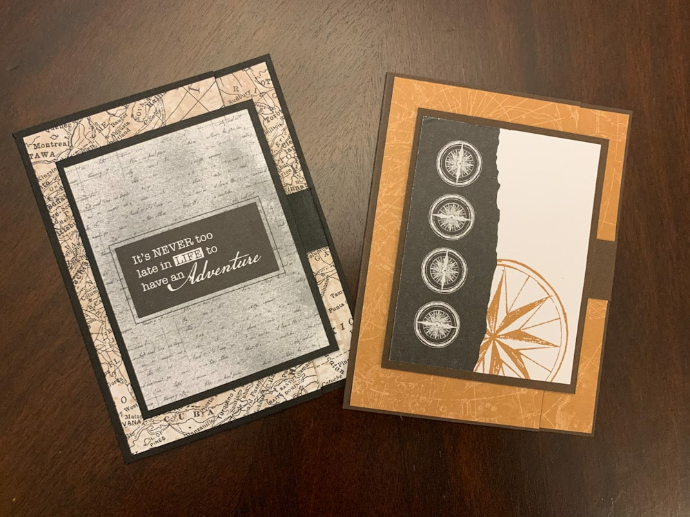 World of Good Stampin Up masculine card travel adventure Swing gate-fold