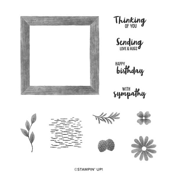 Framed for you stampin up greeting birthday card sympathy hugs