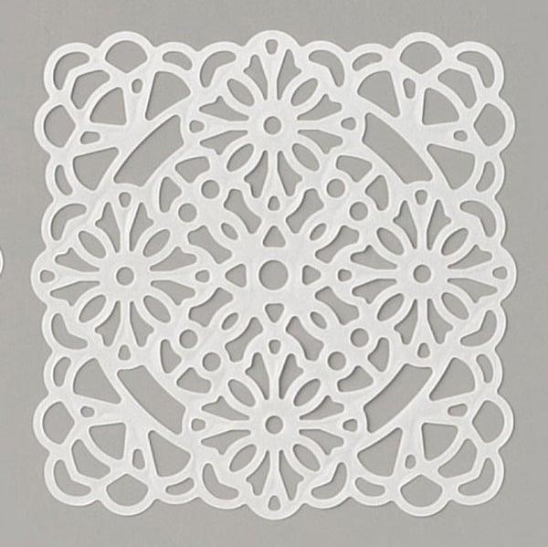 Stampin Up Peony Garden vellum square doilies decorative embellishment
