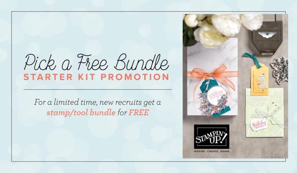 Stampin Up new demonstrator promotion free bundle