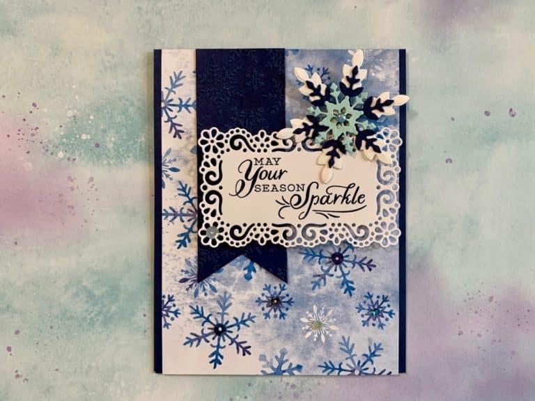 Sparkly Snowflake Christmas Card