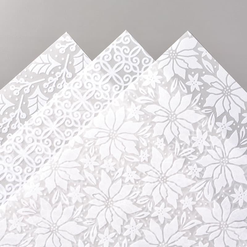 plush flocked velvet poinsettia vellum paper stampin' up! specialty paper Poinsettia Place Snowflake Splendor handmade Christmas card embellishments