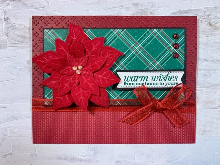'Tis the Season Poinsettia Christmas Card