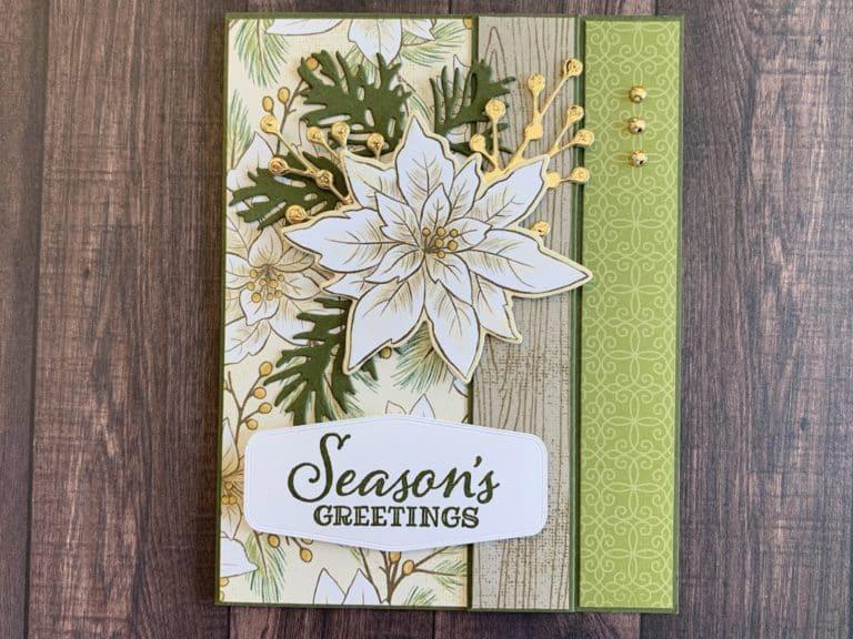 Poinsettia Place Fun Fold Christmas Card