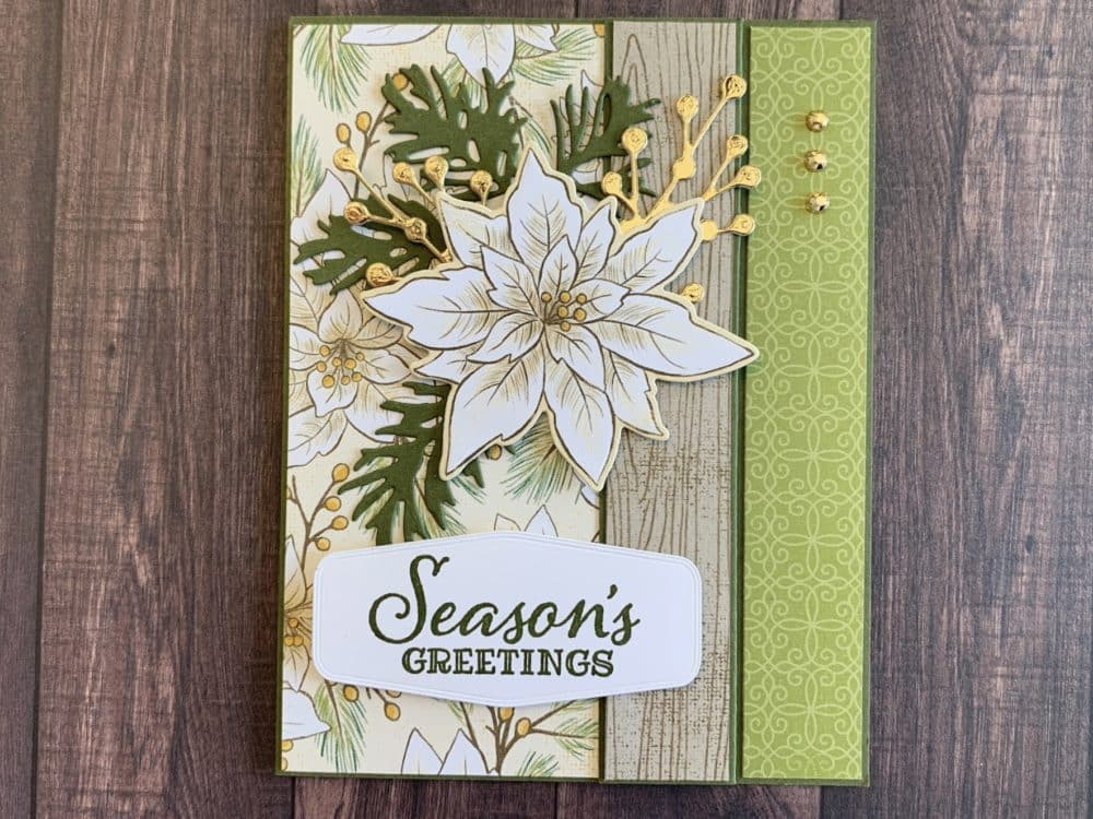 Poinsettia Place Stampin Up Christmas Card holiday catalog