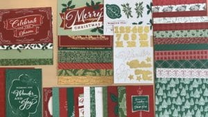 Stampin Up Wonder of the Season memories & more holiday Christmas cards