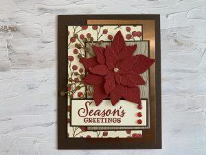 Poinsettia place Christmas cards Stampin Up holiday catalog