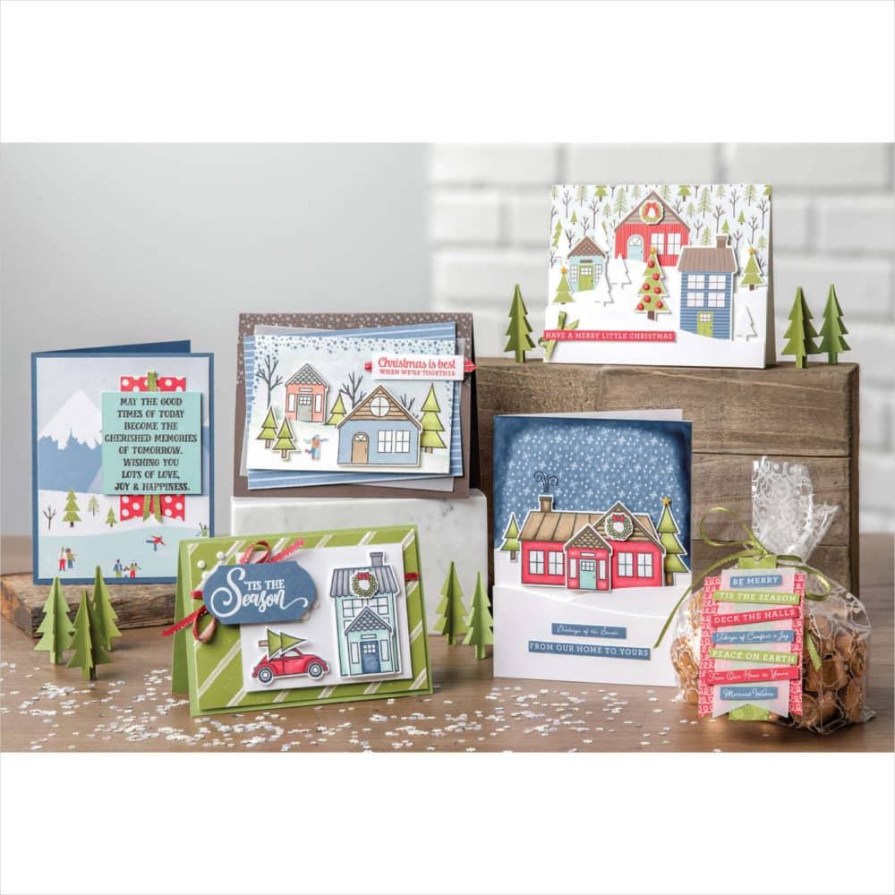 Stampin up holiday catalog Trimming the Town suite christmas card ideas