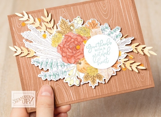 Stampin up autumn greetings fall card making idea