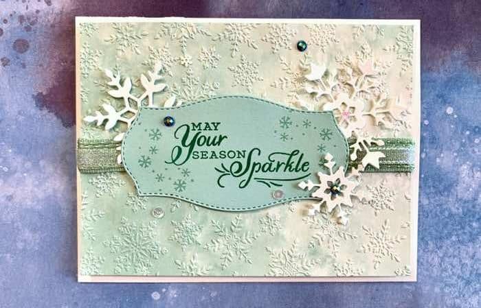 Elegant Snowflake Splendor Christmas Card