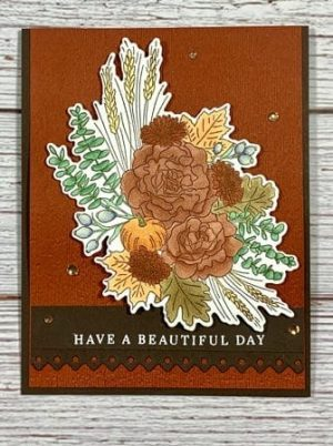 Stampin Up Beautiful Autumn Greetings handmade card