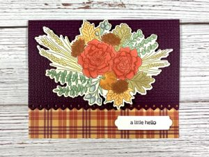 Fall handmade get well card with stamped image using Stampin Up Autumn Greetings bundle