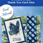 Cheery spring-time Thank You Card with Berry Blessings DSP and A Touch of Ink butterfly stamp