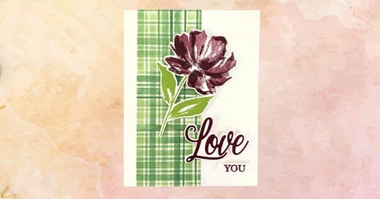 Fine Art Floral Valentines Day Card Tutorial