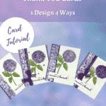 4 cards 1 design thank you card idea using Hydrangea Haven designer series paper