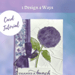 thank you card idea using hydrangea dsp