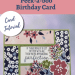 pink and blue birthday card made with Paper Blooms DSP and the Approaching Perfection stamp set sentiment