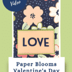 contemporary Valentines Day Card in navy, petal pink and old olive green