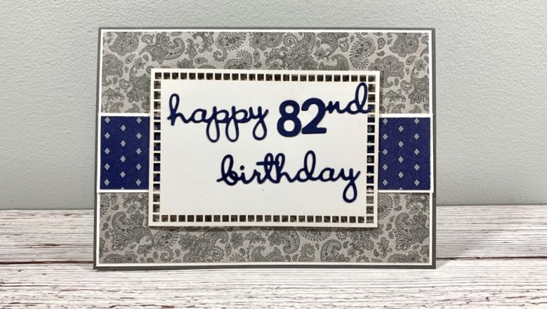 Well Suited Masculine Birthday Card