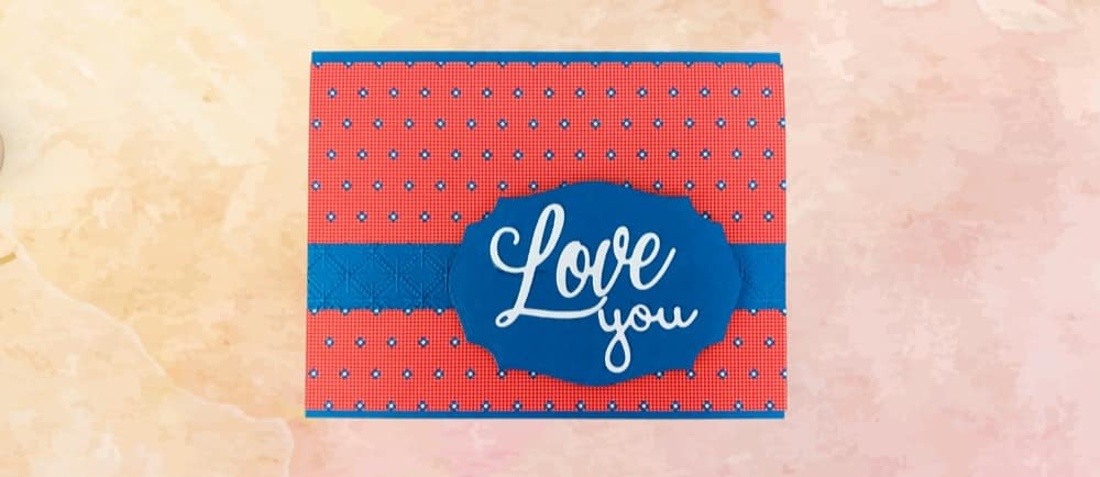 Well Suited Masculine Valentines Card Tutorial