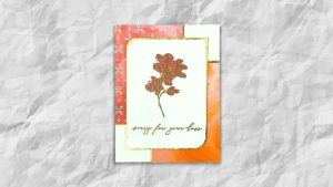 sympathy card using Fine Art Floral DSP from Stampin Up
