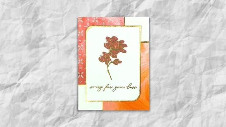 Fine Art Floral Sympathy Card