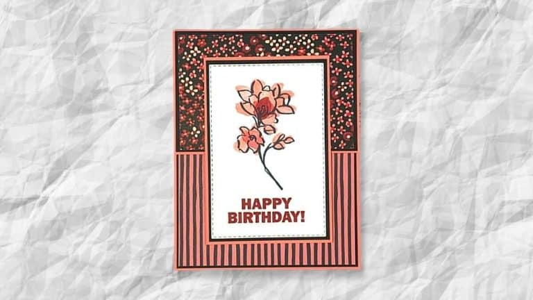 Flower and Field Birthday Card