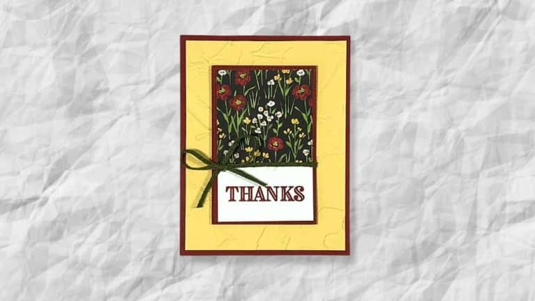 Flower and Field DSP Thank You Card