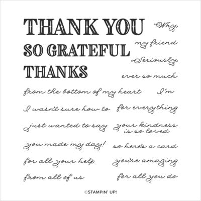 Ornate Thanks thank you wishes from Stampin Up