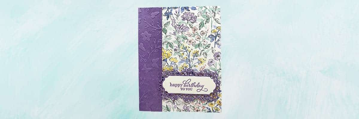 handmade floral birthday card