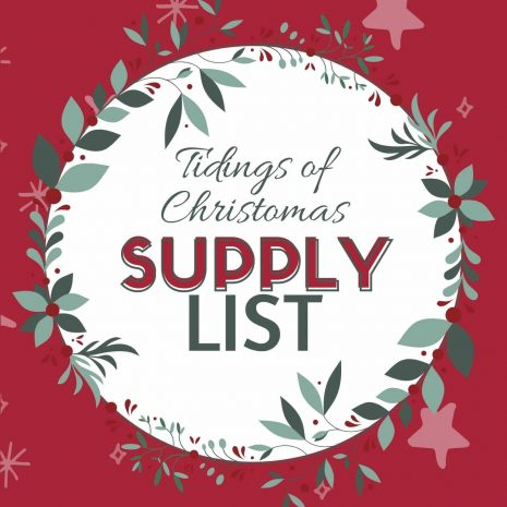 Tidings of Christmas Supply List Cover